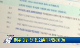 문체부·경찰·인터폴, 오늘부터 저작권침해 단속 동영상 보기